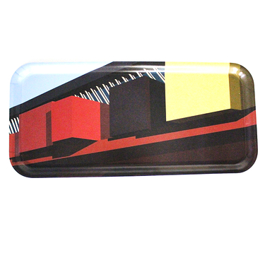 "Petit Plateau rectangulaire Collection ""Architecture"""