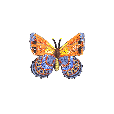 Brooch Orange Butterfly