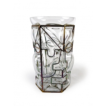 Vase Moai transparent
