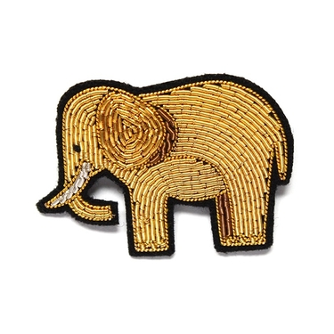 "Grand broche brodée main ""éléphant"""
