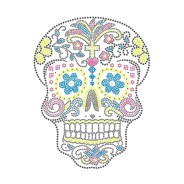 Patch mexican skull strass 2