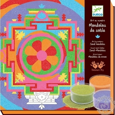 Sables colorés - Mandalas tibétains