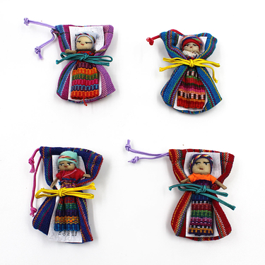 Worry doll in a bag