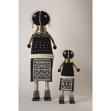 """Young girl"" Ndebele dolls"