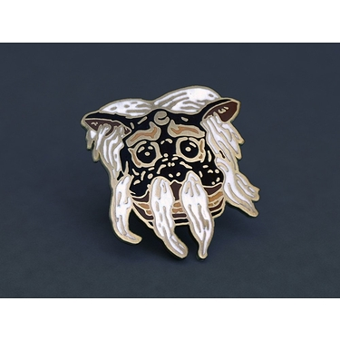 Pin Black lion mask